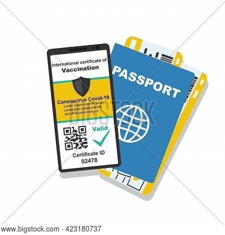 International Certificate Of Vaccination Covid-2019. Valid Certificate. Digital Passport Vaccination