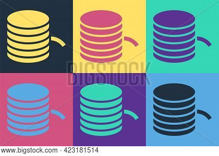 Pop Art Plastic Filament For 3d Printing Icon Isolated On Color Background. Vector