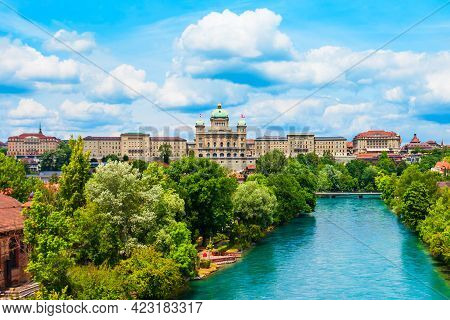 The Federal Palace Or Bundeshaus Is The Building Housing The Swiss Federal Assembly And Council In B