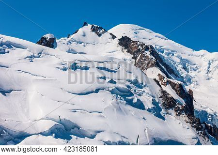 Mont Blanc Or Monte Bianco Meaning White Mountain Is The Highest Mountain In The Alps And In Europe,