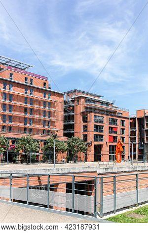 Lyon, France - May 28, 2015: The Cite Internationale Near Parc De La Tete D'or In Lyon With The Oran