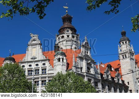 Leipzig City Hall. Architecture In Germany. New City Hall (neues Rathaus) In Historicism Architectur