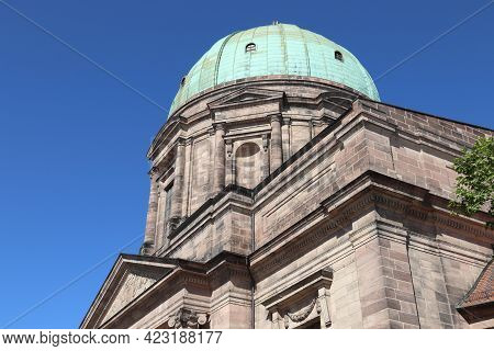 Nuremberg City, Germany. St Elizabeth Roman Catholic Church. German Landmark.