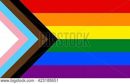 New Lgbtq Pride Flag. Vector Banner Flag For Lgbt, Lgbtq Or Lgbtqia Pride