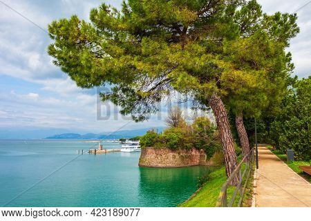 Peschiera Del Garda Is A Town And Comune Located At The Garda Lake In Verona Province In Italy