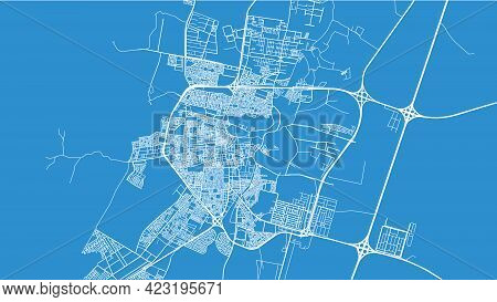 Urban Vector City Map Of Hail, Saudi Arabia, Middle East