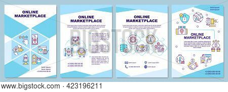 Online Marketplace Brochure Template. E Commerce Products. Flyer, Booklet, Leaflet Print, Cover Desi