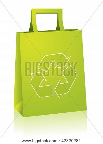 Shopping Paperbag With Recycle Sign