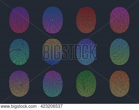 Gradient Fingerprints. Personality Verification, Fluorescent Human Finger Marks Authentication, Scan