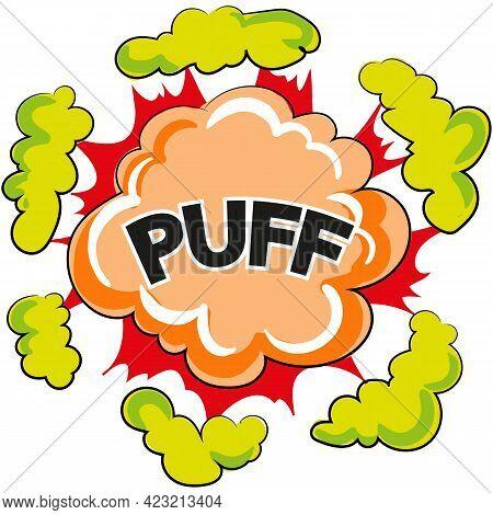 Puff Speech Bubble Comic Book Cartoon Vector
