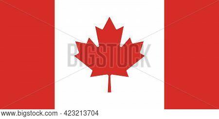 Canada Flag. Background Canadian Flag. Eps10 Vector Illustration.