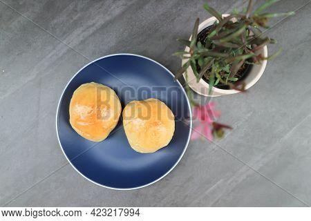 Bun Or Perilla Bun, Cream Bun And Plant