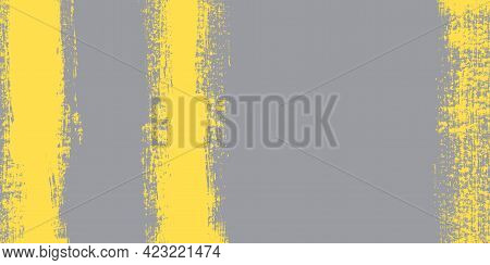 Fashionable Colors Of The Year 2021.strip Of Paint .roller Brushes With Colors Paint For Text .vecto