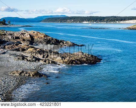 Dramatic Coastal Scenery At Cattle Point - San Juan Island, Wa, Usa