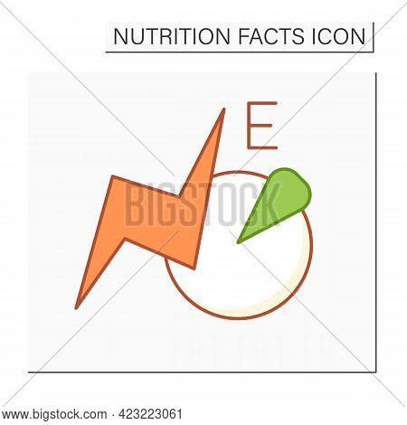 Total Energy Color Icon. Energy Value. Macronutrients. Nutrition Facts. Healthy, Balanced Nutrition