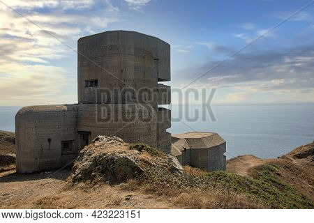 German Observation Bunker Built During World War 2 On The Island Of Guernsey, One Of The Channel Isl