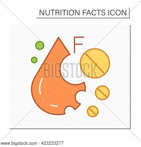 Monounsaturated Fat Color Icon. Linoleic Acid. Fatty Acid. Macronutrients. Nutrition Facts. Healthy,