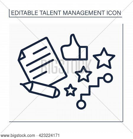 Career Planning Line Icon. Successful Career. Growth And Development. Agreement.talent Management Co