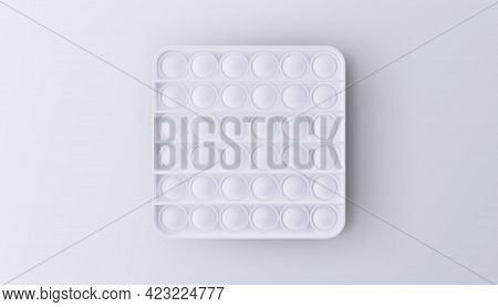 New Popular Sensory Anti-stress Toy - Pop It. Isolated On A White Background.