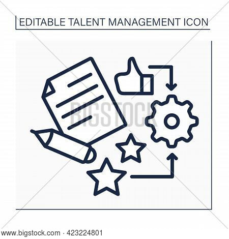 Talent Management Line Icon. Create Motivated Workforce. Improving Business Performance Concept. Iso