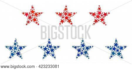 Star Layers Mosaic Of Stars In Different Sizes And Color Hues. Star Layers Illustration Uses America