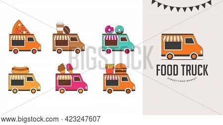 Food Truck Fair, Night Market, Summer Fest, Food And Music Street Fair, Family Festival Poster And B