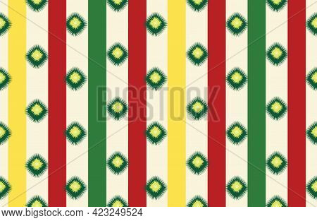 Abstract Ethnic Geometric Seamless Pattern. Wrapping Ornamental Stripy Print. Wallpaper Tribal Decor