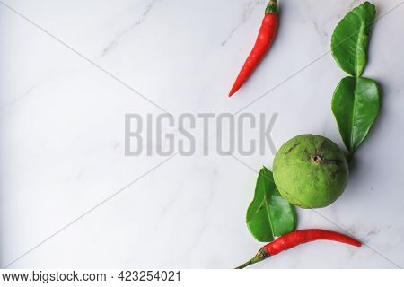 Ingredients For Thai Spicy Soup \'tom Yum\' Dish Chili Hot Spicy Soup Thai Popular Famous Food Isola