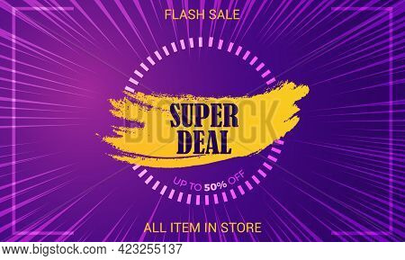 End Of Season, Super Sale Social Media Banner With Upto 50 Off.
