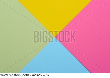 Photograph of a background of pastel colors. Flat lay top view photograph minimalism concept.