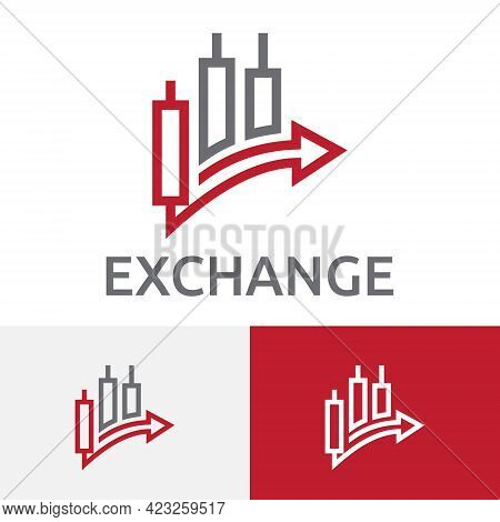 Forex Foreign Exchange Money Currency Chart Business Financial Logo