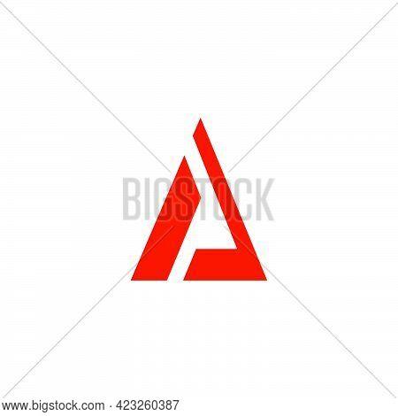 Triangle Simple Flat Geometric Logo Vector Unique Unusual Fashion Design Concept