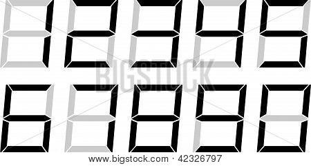 LCD Style Digital Numbers
