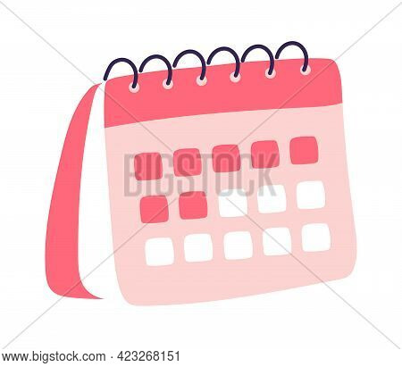 Menstrual Calendar. Calendar Icon. Highlighted Day On The Calendar.working And Day Planning Concept.