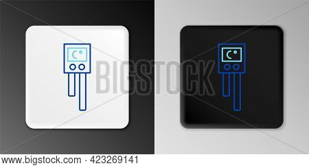 Line Temperature And Humidity Sensor Icon Isolated On Grey Background. Colorful Outline Concept. Vec