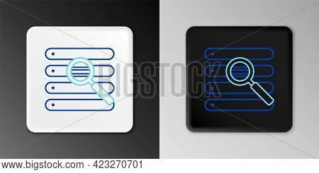 Line Search In A Browser Window Icon Isolated On Grey Background. Colorful Outline Concept. Vector
