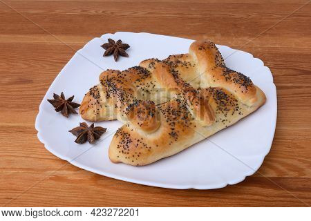 Pie In The Form Of A Ladder Sprinkled With Poppy Seeds Is Baked In Christianity For The Feast Of The