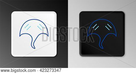 Line Stingray Icon Isolated On Grey Background. Colorful Outline Concept. Vector
