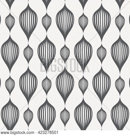 Vector Pattern, Repeating Abstract Flower On Garland In Big And Small Size. Pattern Is Clean For Fab
