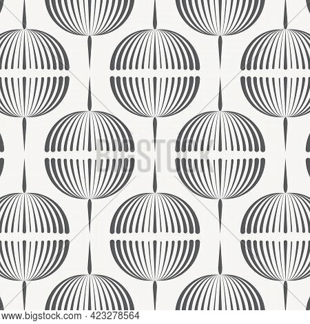 Abstract Vector Pattern, Repeating Abstract Garland Of Dandelion Flower. Pattern Is Clean For Fabric