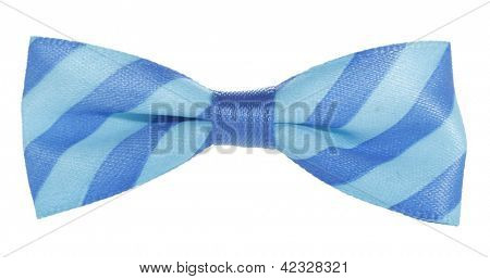 Blue bow tie with stripes