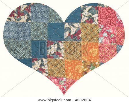 Isolated Quilt Heart
