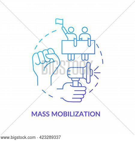 Mass Mobilization Concept Icon. Community Change Abstract Idea Thin Line Illustration. Social Develo