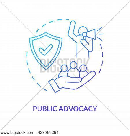 Public Advocacy Concept Icon. Community Change Abstract Idea Thin Line Illustration. Achieving Commu