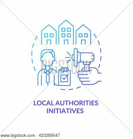 Local Authorities Initiatives Concept Icon. Population Interests Representation Abstract Idea Thin L