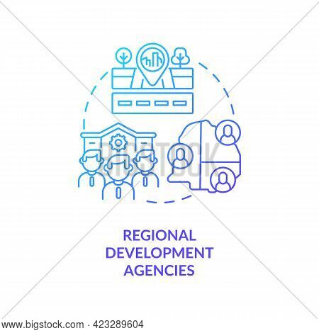 Regional Development Agencies Concept Icon. Community Development Abstract Idea Thin Line Illustrati