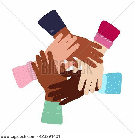 Inter-racial Friendship, Solidarity Of People, Help Support In Diversity