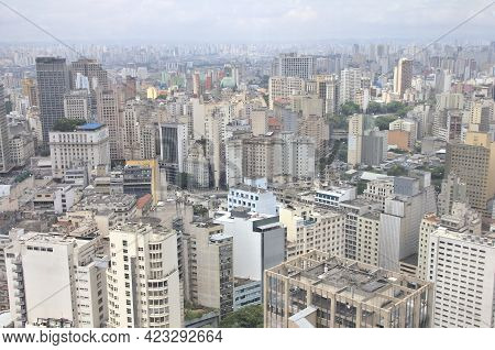 View Of The City Of Sao Paulo, Brazil
