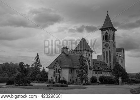 Benedictine Monastery In The Estrie Region, In Quebec, Canada