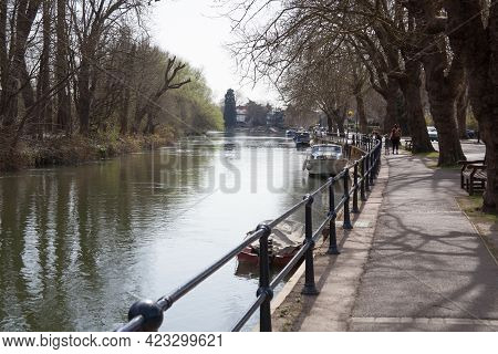 Views Along The Thames River In Maidenhead In The Uk, Taken On The 30th March 2021